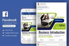 Business Facebook Post Banner by Design Up on @creativemarket