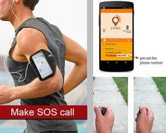 Rastreador pode fazer ligações no celular apenas apertando um botão (Foto: Reprodução/Indiegogo)