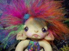 Gumdrop Trollie Fairy Fae Wing Creature Fantasy Ooak by ValerieV, $25.00- want want want!!!
