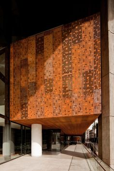 View full picture gallery of Centro Cultural Gabriela Mistral Metal Cladding, Exterior Cladding, Building Skin, Building Facade, Facade Architecture, Contemporary Architecture, Cultural Architecture, Facade Design, Exterior Design