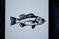 "Big Jaw Fish 2""x1"" Stamp"