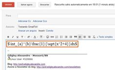 LaTeX no Gmail [Chrome] - Prof. Edigley Alexandre