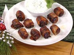 Giada's holiday finger foods: Sausage-stuffed dates, grilled veggies, kale and sweet potato chips, veggie towers