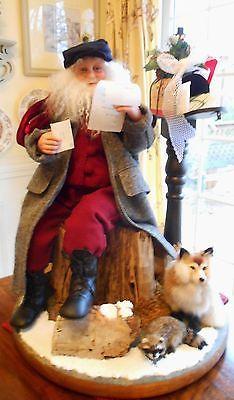 OOAK Santa Art Doll Scene Original Sculpt by Karen Vander Logt | eBay