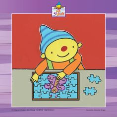 Puk is aan het puzzelen Kids Daycare, Lisa Simpson, Crafts For Kids, Preschool, Map, Education, Creative, Blog, Google