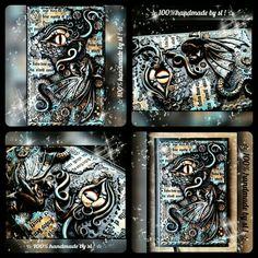 Dragon eye  Notebook cover polymer clay handmade Book of shadows BOS