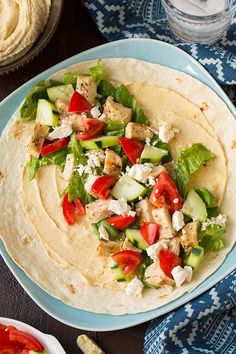 Greek Grilled Chicken and Hummus Wrap   Cooking Classy