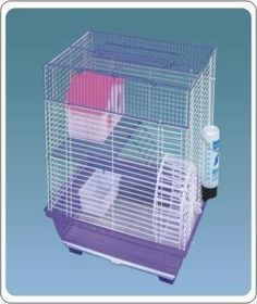 Dahak International Ltd Small Narrow Bar Mouse Hamster Cage Narrow bar mouse or dwarf hamster cage. All assessories included. size is H35 x W32 x D26cm.  #DahakInternationalLtd #PetProducts