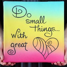 Use a Tulip Tie Dye Kit to create this one of a kind Quote Art Canvas. Great for displaying in a kids bedroom or a walkway, this simple wall art project is fun to do for crafters of all ages. Simple Wall Art, Diy Wall Art, Diy Art, New Crafts, Crafts To Make, Word Art, Art Quotes, Inspirational Quotes, Quote Art