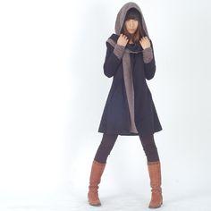 Lange Mäntel - Far Away from Home - cashmere hood coat (Y1121) - ein Designerstück von idea2lifestyle bei DaWanda