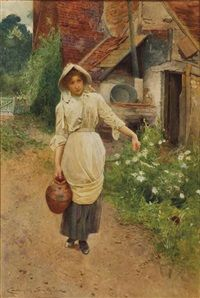 Goinng to  the Well 1902  Works on Paper
