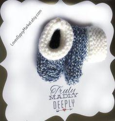 Baby Booties Knitted Baby Booties Knitted Baby by LovesGypsyMarket