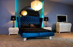 Yatak odası takımı istenilen kumaş ve cila renkleri kullanılmaktadır. Best Paint Colors, Bedroom Sets, Bedrooms, Cool Paintings, House Rooms, Toddler Bed, Couch, Modern, Fabric