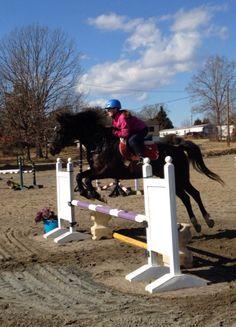 Josie jumping Reagan