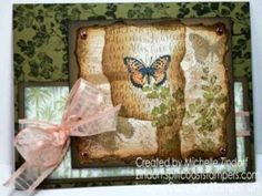 Hand Stamped Positive Thoughts Collage – Stampin' Up! Card Created by Michelle Zindorf Leather Stamps, Customer Appreciation, Birthday Thank You, Different Textures, Blank Cards, Dark Colors, Positive Thoughts, Happy Friday, Hand Stamped