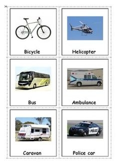 Transport Vocabulary Flash Cards. For more resources follow http://www.pinterest.com/angelajuvic/angie-s-tpt-store/