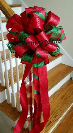 Check out this item in my Etsy shop https://www.etsy.com/listing/454804116/christmas-tree-topper-large-tree-bow