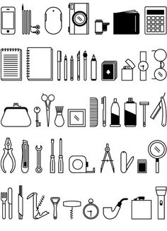 Icon Set: Pocket Pictograms by Ed Harrison, via Behance