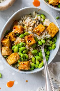 Easy Soup Recipes, Healthy Recipes, Asian Recipes, Ethnic Recipes, Vegetarian Recipes, Rice Bowls, Tofu, Skinnytaste, Spicy
