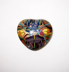 Heart Shaped Kashmir Hand Painted Trinket Box by Latrouvaille, $11.00