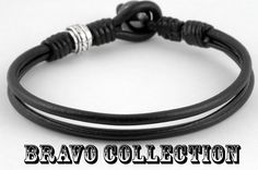 Sterling Silver Hematite New Surf Bangle Wristband Leather Men Bracelet