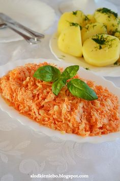 Polish Recipes, Polish Food, Raw Vegetables, Side Salad, Appetisers, Risotto, Macaroni And Cheese, Side Dishes, Good Food