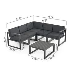 Welded Furniture, Iron Furniture, Steel Furniture, Furniture Design, Outdoor Sofa Sets, Outdoor Furniture Sets, Outdoor Sectional, Contemporary Outdoor Sofas, Metal Sofa