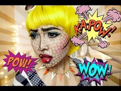 ▶ POP ART/Comics Make Up (Halloween 2013) - YouTube