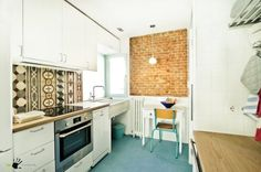 Kitchen Interesting White Design Sinks Unique Patterned Marble Backsplash Exposed Brick Wall Idea Simply Dining Table Modern Cabinet.jpg Stunning kitchen Sink