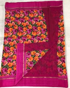 online womens traditional sarees Floral Print Sarees, Printed Sarees, Floral Prints, Bacon Wrapped Chicken Tenders, Kota Silk Saree, Traditional Sarees, Sweet And Spicy, Digital Prints, Fingerprints