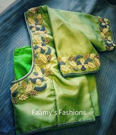 Bridal Blouse Stitching in Chennai - Faamys Fashions Ladies Tailoring in Chennai Hand Work Blouse Design, Simple Blouse Designs, Stylish Blouse Design, Fancy Blouse Designs, Bridal Blouse Designs, Blouse Neck Designs, Cutwork Blouse Designs, Maggam Work Designs, Sumo