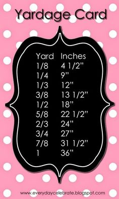 Yardage Card from Missouri Star Quilt Co.