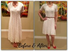 Lace Dress Makeover