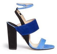 PAUL ANDREW 'Xiamen' colourblock suede slingback sandals