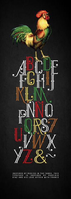 MEXIQUE FONT by Ismael Fino, via Behance