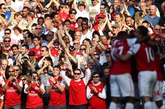 Follow the crowds of red-shirted Arsenal fans into the stadium and find your seat. For the next 90 mins be prepared to soak up the buzzing atmosphere as the crowd pumps themselves up with chants and other football game antics.