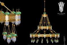 Mosque Main Chandelier - Decorative Lighting for Mosque designed and manufactured by KNY Design Austria www.kny-design.com Decorative Lighting, Mosques, Light Decorations, Austria, Chandelier, Ceiling Lights, Design, Home Decor, Sculptures