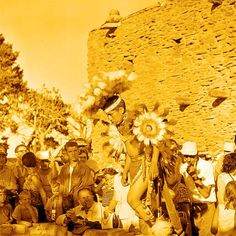 Hopi dancer 1958- Photoshop colorized