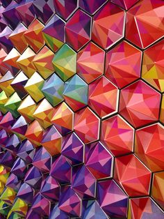 PyraHex Color Wall by Jomag Heredia, via Behance