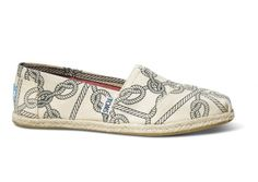 TOMS Natural Rope Print Women's Classics // GET TWISTED