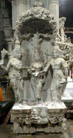 Lord Vishnu is performing marriage  KANYADAAN of Lord Shiva and Parvati.