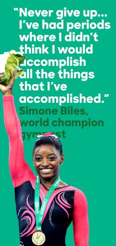 "At the 2015 World Gymnastics Championships, Simone Biles leapt into record books as the most decorated woman gymnast of all time. As The New York Times put it, ""She's the best American gymnast since, well, probably ever."" Congratulations, Simone!"