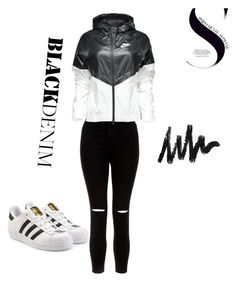 """""""Worth the money for this casual adorable outfit 💕👀 #adidas #nike"""" by terlizzlle on Polyvore featuring New Look, NIKE and adidas Originals"""