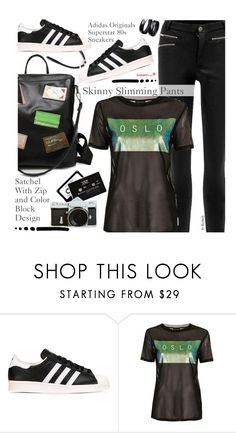 Street Style by beebeely-look on Polyvore featuring мода, Topshop, adidas Originals, ...Lost, StreetStyle, adidas, sammydress, streetwear and blackoutfit
