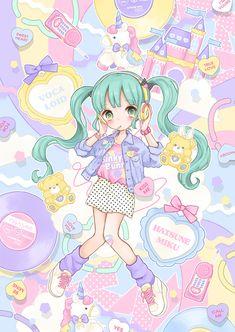 Manamoko kawaii illustrations - pastel fairy kei