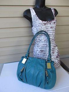Tignanello Hand  shoulder bag Turquoise #Tignanello #ShoulderBag