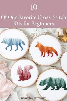 These are some of the most beautiful all-in-one cross stitch kits you can buy online to create flora and fauna, custom portraits, and other beautiful modern designs. Plus, these creative crafts make great gifts for the holiday season or as a birthday gift for anyone. #marthastewart #holidaygifts #diyprojects #diygifts #handmadegiftideas #christmasgifts Craft Activities For Kids, Craft Ideas, Crafts To Make, Crafts For Kids, Hand Embroidery Patterns Free, Spinning Yarn, Counted Cross Stitch Kits, Crafty Craft, Embroidery Techniques