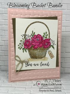 Blossoming Basket Bundle from Sale-a-Bration, Stampin' Up! BJ Peters