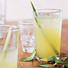 This refreshing drink is the perfect complement to our Lemongrass Beef Skewers and Rice Noodles with Scallions and Herbs.
