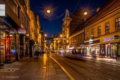 Ilica - View to Zagreb's main street.